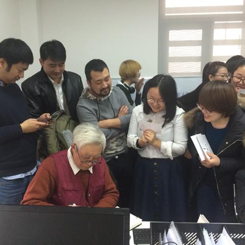 著名动画艺术家冯建男老师参观神居动漫
