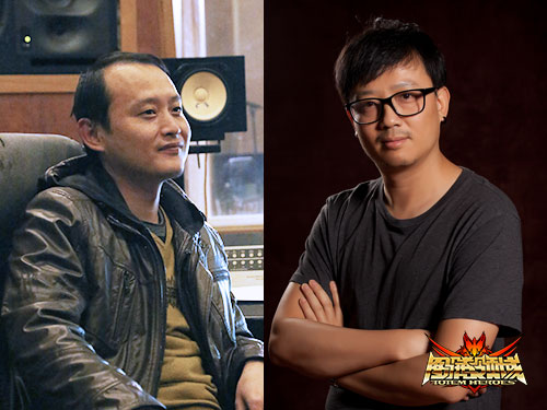 配图2:著名音乐人顾鑫(左)与薛云升(右)负责原声音乐创作与整体声音设计、制作。